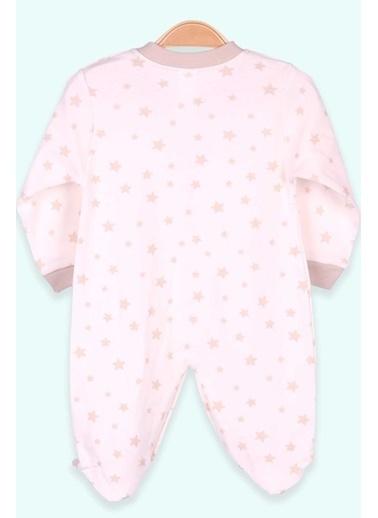 Breeze Erkek Bebek Patikli Tulum Yıldızlı Krem (0-3 Ay-4 Ay) Krem